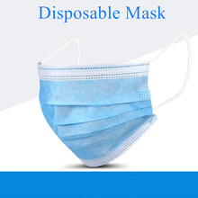 Fast Ship 2000pcs Disposable Surgical Mask Hygiene Beauty Face Mouth Masks Non-woven 3-layer Elastic Ear Loop Mask