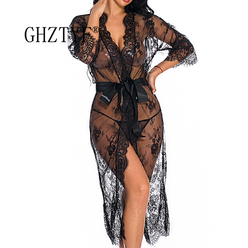 Complete Hot Sexy Women Underwear Sheer Dresses Erotic Sex Lingerie Pajamas Costume Woman Porn Long Dress Clothing