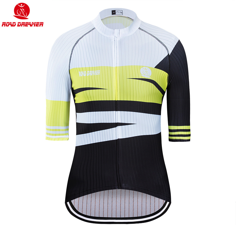 Bike Jersey Short-Sleeve Triathlon Maillot-Ciclismo Yellow-Style Women New Lycra Summer