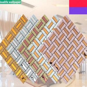Цветная Мозаика, самоклеящаяся настенная плитка из кристаллического стекла, для гостиной, спальни, фона, для бассейна, ванной комнаты, 3D нак...