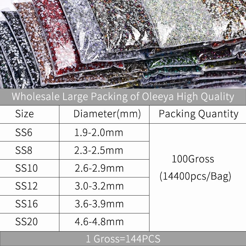 Size Chart Oleeya High Quality Better DMC hot fix rhinsetones