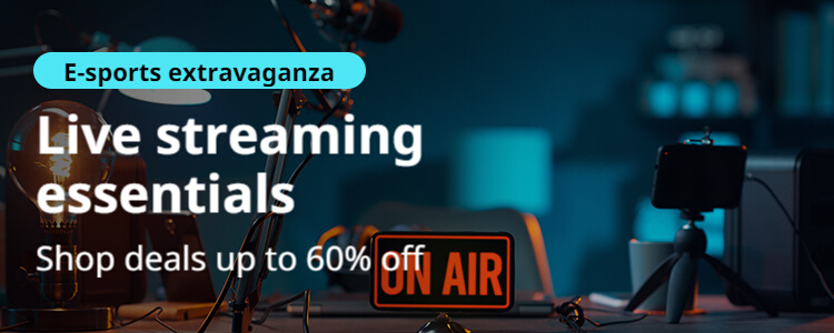 aliexpress.com - Avail Upto 60% Off on Live Streaming Essentials