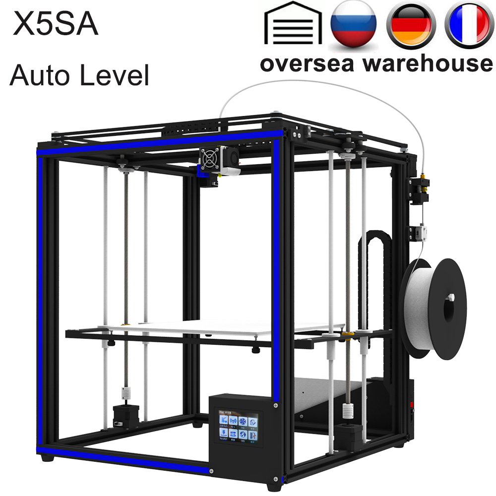 2019 Upgraded 3D Printer Tronxy X5SA Filament Sensor Large Plus Size 330*330mm hotbed Full Metal TFT Touch Screen 3d Printer image