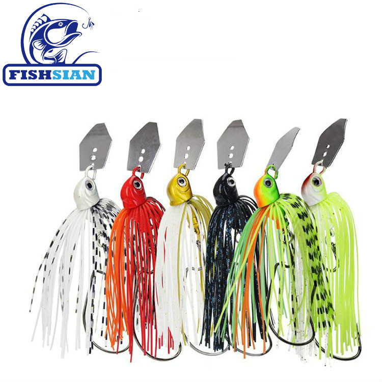 2020 Chatterbait Fishing Lures Weights10-14g Fishing Tackle Spinnerbait Fishing Accessories Isca Artificial Buzz Fish Bait Pesca-0