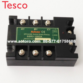 цена на Solid state relay SSR3-100DA 100A three phase electrical relays 100a 24v