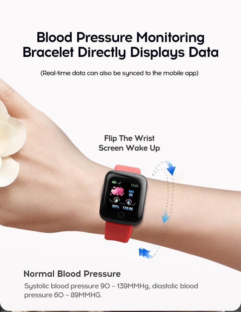 Hf4b6c565efd645799c8058fbdb973792U Smart Watch Men Women Smartband Blood Pressure Measurement Waterproof Fitness Tracker Bracelet Heart Rate Monitor Smartwatch