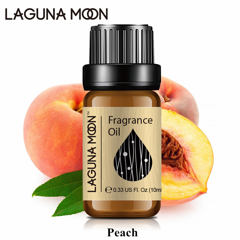 Lagunamoon Peach 10ml Fragrance Oil Mango Lime Coconut & Vanilla Plant Oil Aromatherapy Diffuser Fruit Series
