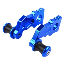 Spools Motorcycle-Accessories Rear-Wheel Adjusters for KAWASAKI Chain Axle-Blocks Tensioner