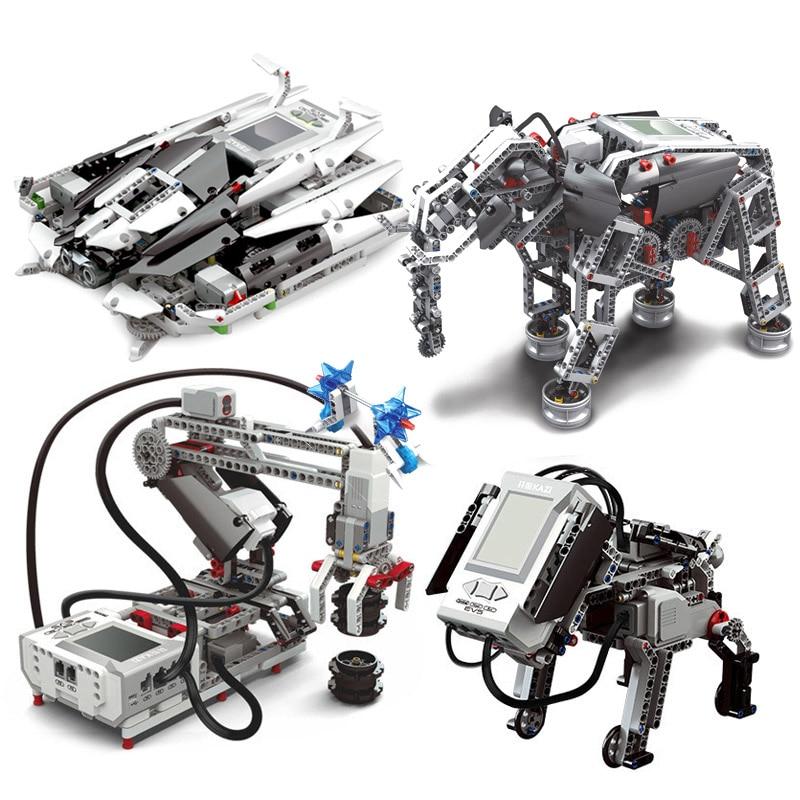 NEW Creative Technic Robot RC Intelligent Robot Building Blocks Fit 45544 EV3 EV5 Scratch3.0 Programming Robotic DIY Toys Gifts