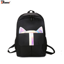 New Cats School Bags for Girls Teenager Backpack School Bag Women Bookbags Student Teen Colorful Cartoon Bag School Large 2016 new arrival women backpack more big size mouse backpack fashion jelly bag cartoon school bags bow teenager girl bag xa1234b
