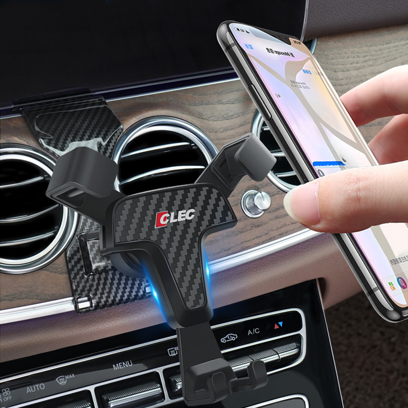 Car Phone Holder For Mercedes-Benz E-Class W213 2017 2018 2019 Air Vent Mobile Mount Stand Clip Benz