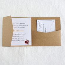 Hochzeit Einladungen Tri-Falten Tasche Sparen Sie Die Tag RSVP Lädt Personalisierte Text Druck Perle Handwerk Papier Multi Farben