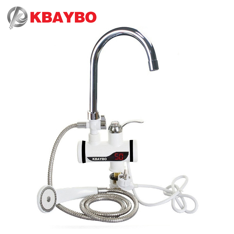 3000W Electric Instant Water Heater Tap Shower Hot Faucet Kitchen Water Heater image