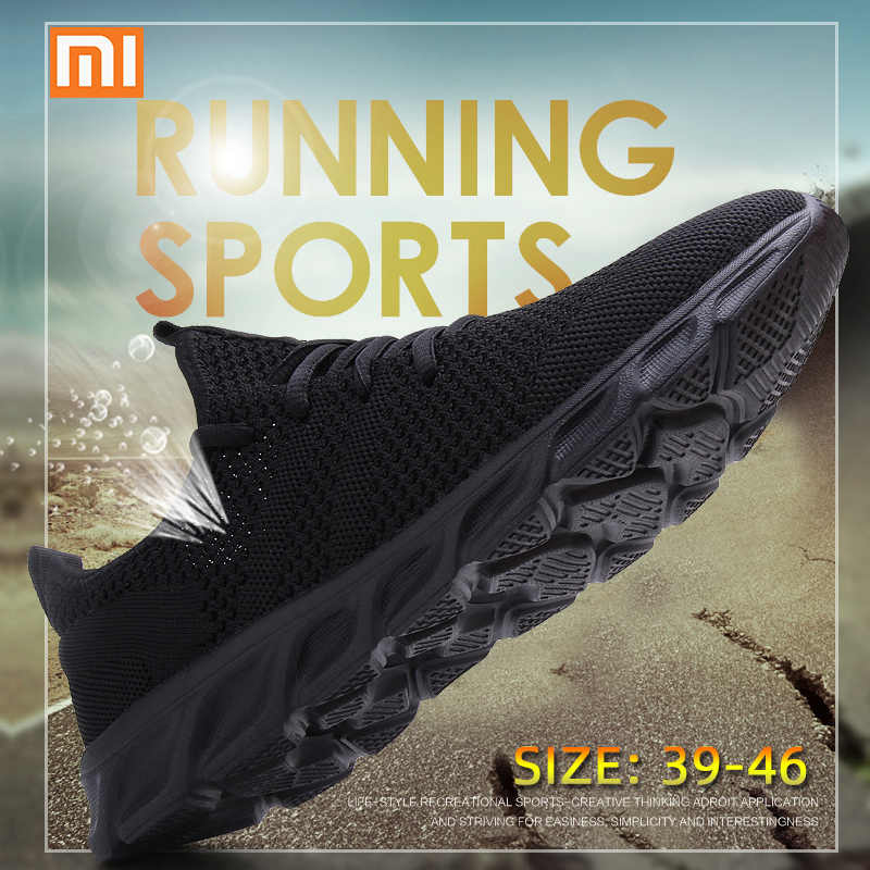 Xiaomi Light Running Shoes Flyknit Breathable Lace-Up Jogging Shoes for Man Sneakers Anti-Odor Men's Casual Shoes Drop Shipping