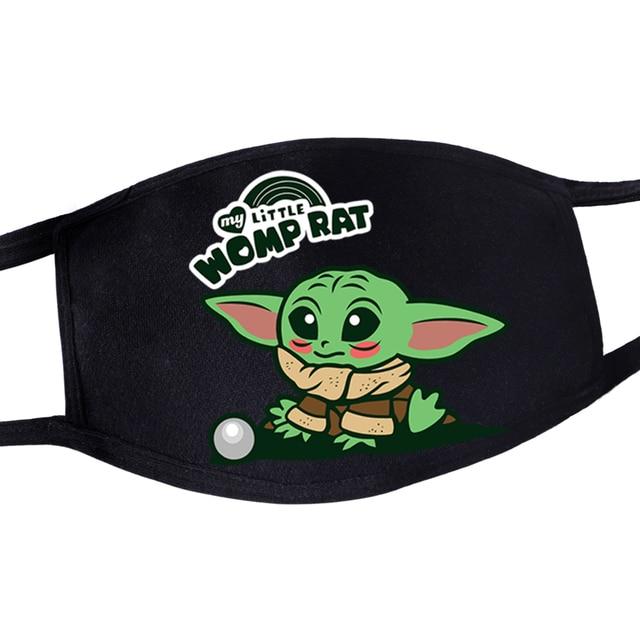 2020 Hot Mandalorian Anti Dust Masker Adult Womens Mens Kids Baby Yoda Face Mask Masque Star Wars Kawaii Reusable Mouth Masks 4