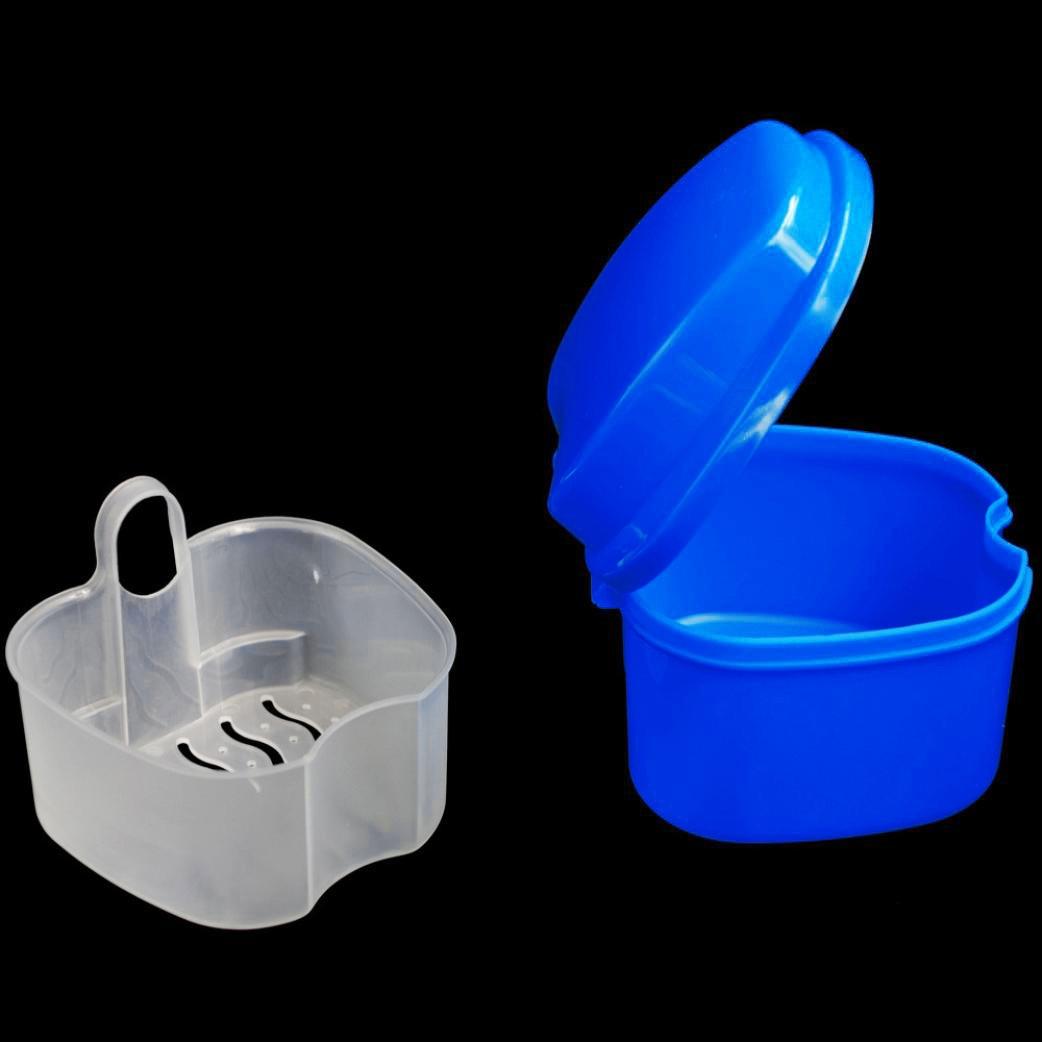Протез для ванной Организатор DentalFalse коробка для хранения зубов с сетка/контейнер для чистки зубов Чехлы искусственные коробочки для зубов ...