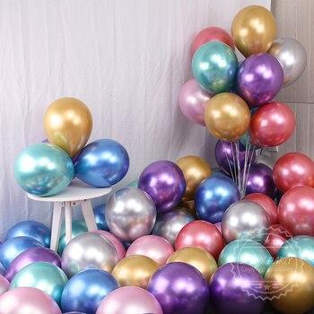 30pcs 50pcs Thicken Chrome Metallic Latex Balloons Metallic Globos Inflatable Helium Balloon Wedding Birthday Party Decor Ballon 10pcs 12inch silver gold ballon chrome metallic latex balloons birthday party wedding decoration inflatable balloon globos new