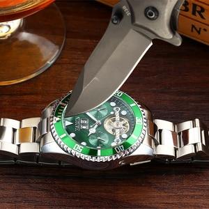 Image 5 - HAIQIN Nóng Thương Hiệu Nam Đồng Hồ Cơ Học Kinh Doanh Dây Thép Nam Đồng Hồ Đeo Tay Tourbillon Reloj Mecanico De Los Hombres