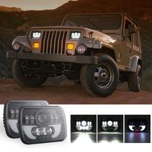7x6 5X7 300W LED Headlight Hi/Lo 30000LM H4 Auto car LED Light Bulbs For 87-95 Jeep Wrangler XJ84-01 Cherokee GMC Toyota