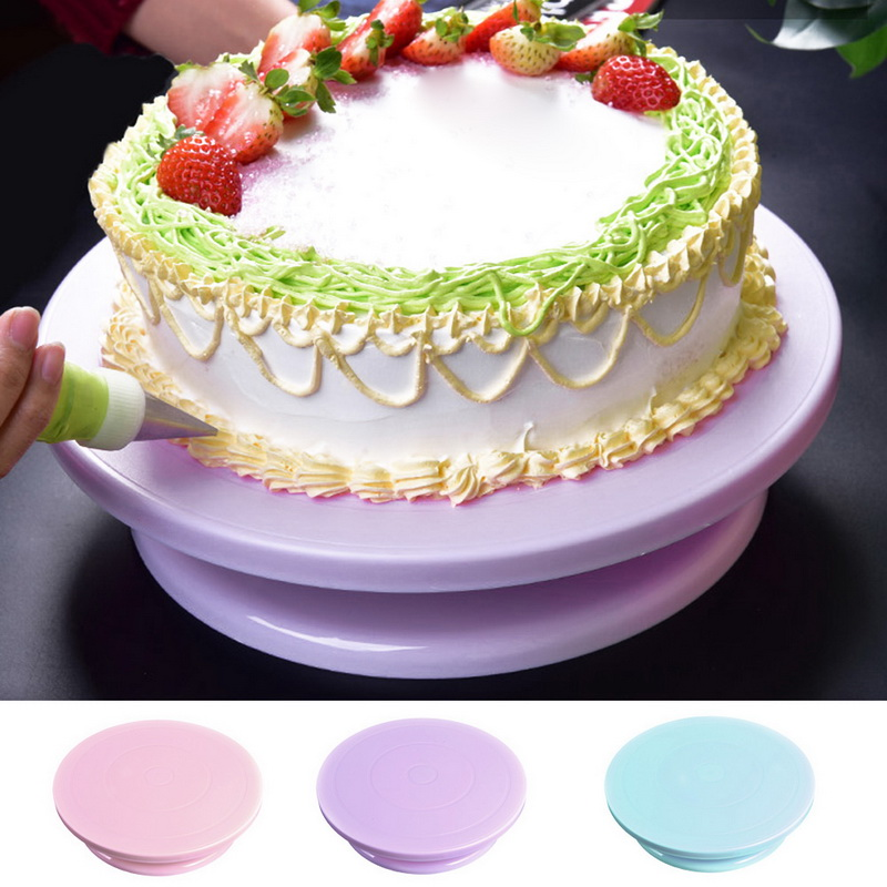 Пластик торт поворотный стол вращающийся против скольжения круглый торт подставка для торта с поворотным столом пластина Кухня сковородка...