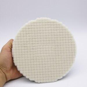 Image 5 - 5นิ้วจัดแต่งทรงผมJapan Wool Polishing PadสำหรับPolisherรถPadชุดขนสัตว์Finish Polishing Pad