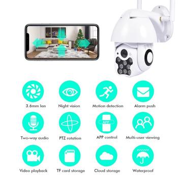 Mini IP Camera WIFI HD 1080P PTZ Outdoor Home Security Wireless Waterproof Night Vision Full Color Motion Detection Hotspots Cam