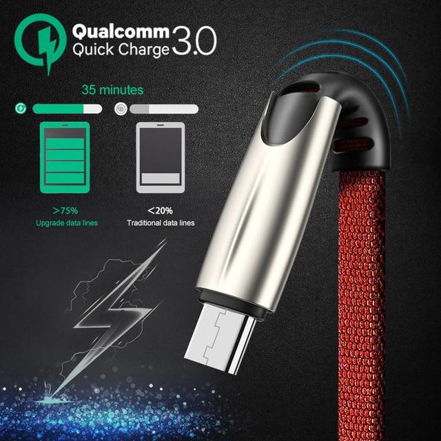 Micro Cavo USB 5A Veloce di Ricarica USB di Sincronizzazione di Dati Adattatore Del Telefono Mobile Cavo del Caricatore Per Sams 2