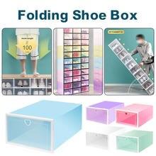 1 шт Прозрачный обувной коробки для хранения обуви Коробки утолщенной