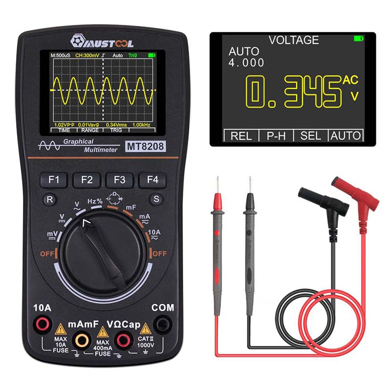2 2 MT8208 Electronic Graphical Upgraded Intelligent MUSTOOL Test 5Msps Rate HD In Oscilloscope Digital Multimeter Sampling 1