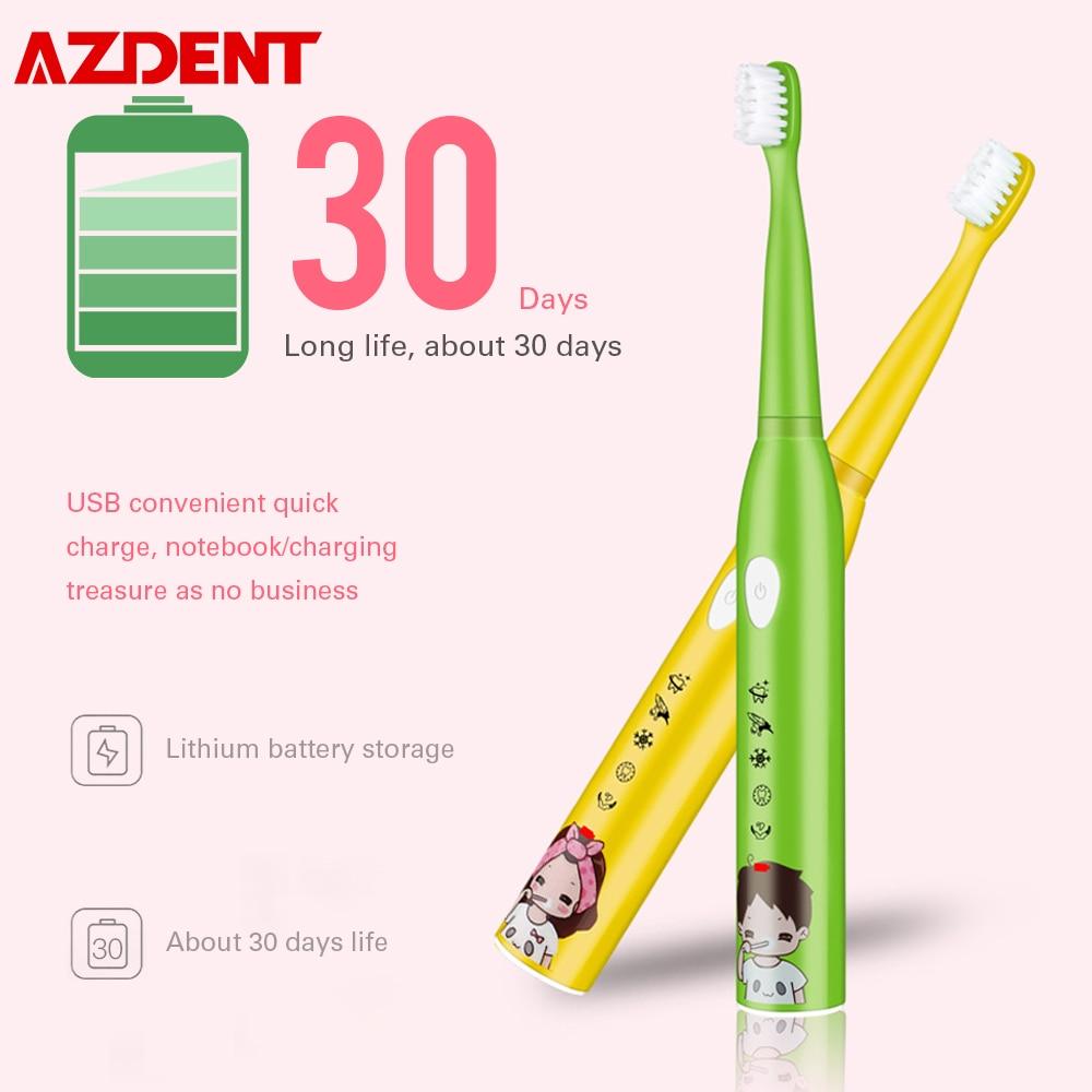 USB şarj edilebilir çocuklar çocuk Sonic elektrikli diş fırçası 5 modları IPX7 su geçirmez 30S hatırlatma 2 dakika akıllı zamanlayıcı DuPont kıl
