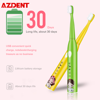 USB Rechargeable Kids Children Sonic Electric Toothbrush 5 Modes IPX7 Waterproof 30S Reminder 2min Smart Timer DuPont Bristle - discount item  60% OFF Personal Care Appliances