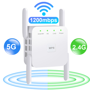 5G WiFi Repeater Wifi Amplifier Signal Wifi Extender Network Wi fi Booster 1200Mbps 5 Ghz Long Range Wireless Wi-fi Repeater 1