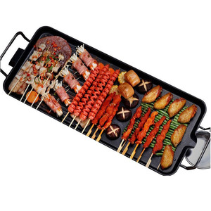 1200 Вт бытовые электрические духовые шкафы бездымного антипригарного барбекю машина электрическая плита принадлежности для барбекю теппаняки сковорода для мяса на гриле 220 В