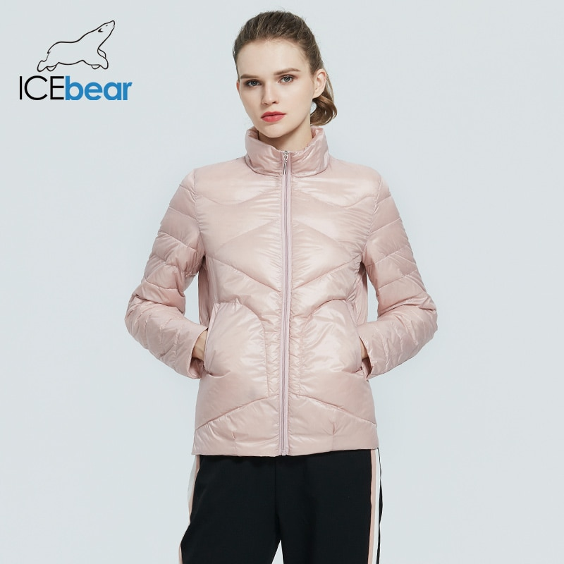 ICEbear 2020 Women Spring Lightweight Down Jacket Stylish Casual Women Jacket Female Collar Women Brand Clothing GWY19556D|Down Coats| - AliExpress