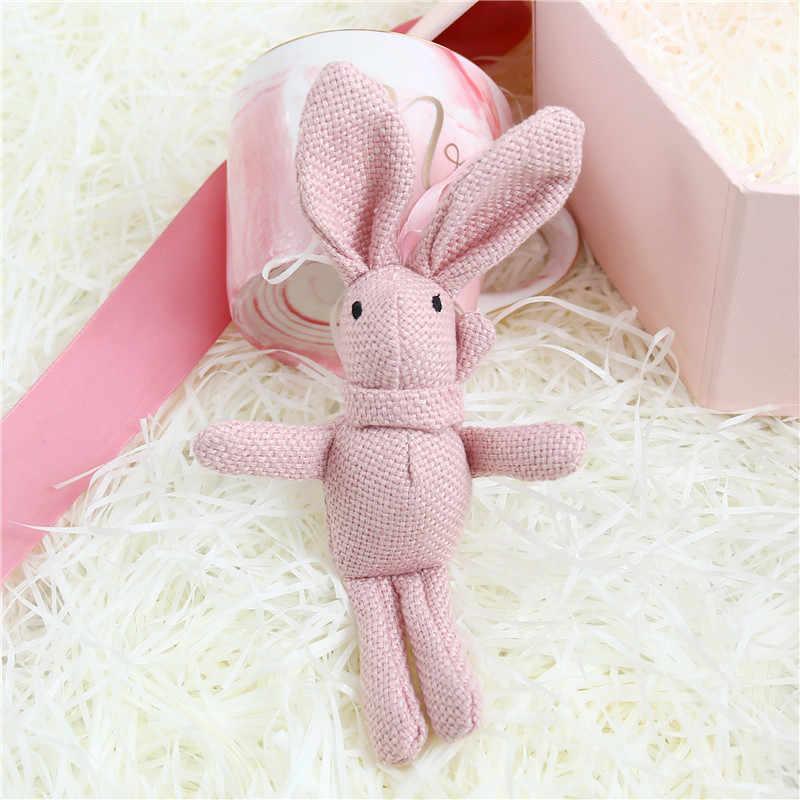 1 قطعة لعبة فستان أرنب مفتاح سلسلة ، حفلة أطفال ألعاب من نسيج مخملي ، باقة دمى أفخم
