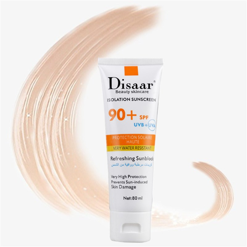 SPF90PA++ Hyaluronic Acid Isolation Sunscreen 80ml Face Skin Care Concealer Beauty Essentials Contour Palette Base Foundation