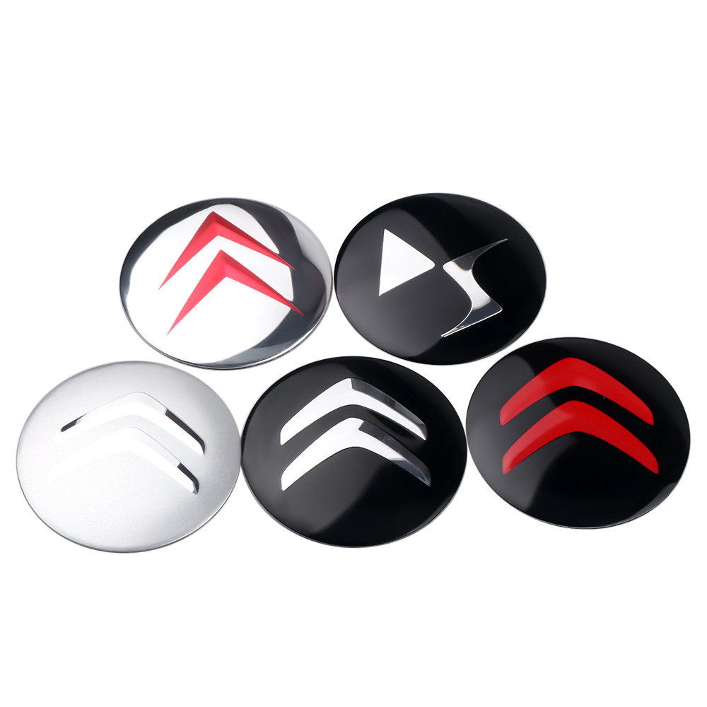For Citroen C4 C5 C3 C2 C1 C4L Picasso Saxo 4Pcs Car Emblem Wheel Hub Caps Stickers Tire Dust-Proof Decals Badge Accessories