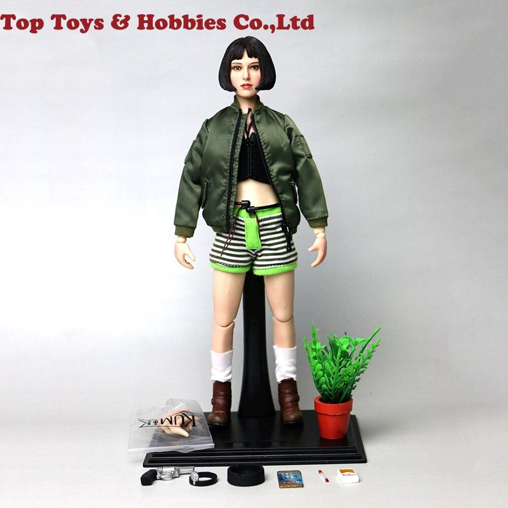 IN stock KMF036 1/6 Natalie Portman Leon Mathilda Girl Action Figure KMF038 Full set  Léon figure doll Collectible Model Toys