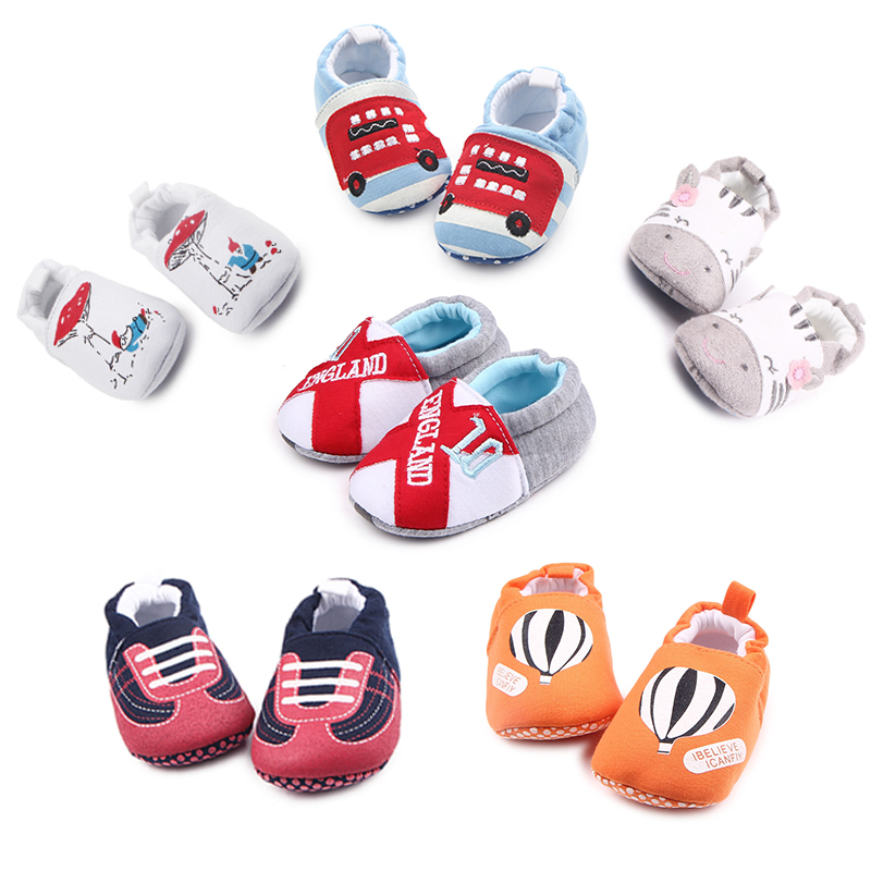 Winter Baby Shoes Boy First Walkers Newborn Baby Boy Girl Soft Cartoon Shoes Anti-slip Toddler Crib Boots Infant Shoe For Kids
