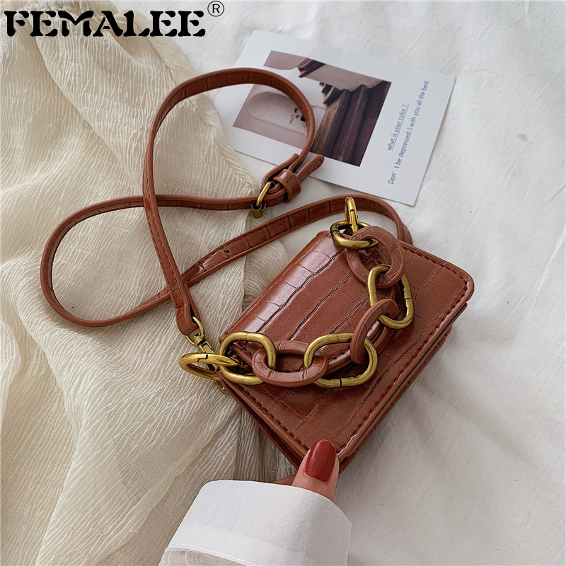 Tiny Crocodile Shoulder Bag Women Pu Leather Crossbody Bags Super Mini Small Messenger Bags For Women Ins Hot Ladies Clutch Bags