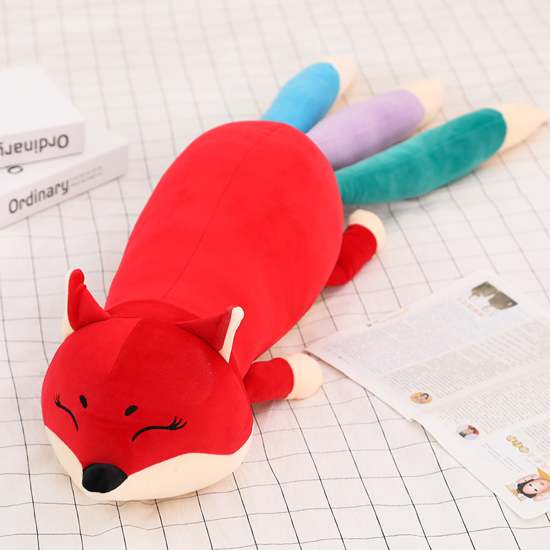 100/140CM Kawaii Dolls Stuffed Animals Plush Toys for Girls Children Boys Toys Plush Pillow Fox Stuffed Animals Soft Toy Doll