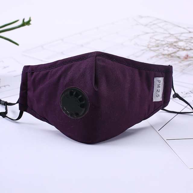 Cotton Breathable Face Mask Filter Respirator Reusable Anti Haze Foldable Mask Dust Flu PM 2.5 Activated Carbon 1