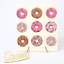Wooden Donut Wall Stand Donut Party Decoration Doughnut Holder Bride Wedding Party Decor Birthday Party Supplies Baby Shower(China)