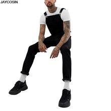 KLV aumter Модные мужские рваные джинсы комбинезоны уличные потертые джинсовые комбинезоны большие размеры мужские повседневные брюки с подтяжками 9807