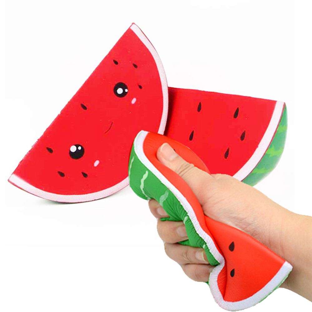 Fidget-Toys Watermelon Anti-Stress Squishy Kids Simple Dimpl Gift Slow-Rebound PU Smiley