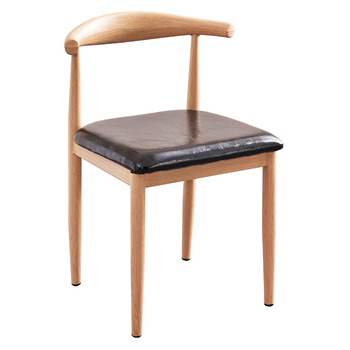 Dining Chair Household Nordic Imitation Solid Wood Iron Horn Chair Stool Back Restaurant Milk Tea Dessert Shop Table And Chair C