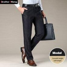 סגנון קלאסי גברים של ישר מכנסי קזואל 2019 החדש מודאלי בד עסקים כהה אפור משלוח חם למתוח מותג מכנסיים
