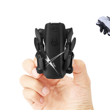 RC Drone Mini Pocket Quadcopter Folding Aerial Plane UAV FPV Wifi Image Transmission Foldable Helicopter Red Blue Black