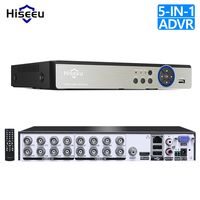 Hiseeu16CH 5in1 AHD DVR for CVBS TVI AHD Analog IP Camera CCTV NVR P2P Cloud H.264 VGA HDMI Security System Video Recorder Audio