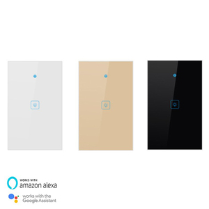Image 2 - Wifi Smart Light Switch Touch Glass Panel  US Rectangle Wireless Electrical App Remote Voice Control work for Alexa Google Home